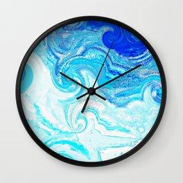 Blue Ocean Splash Wall Clock
