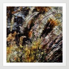 Pampas Grass Abstract Art Print