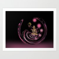 meditation Art Prints featuring Meditation by LoRo  Art & Pictures