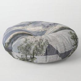 Halibut Point Quarry Landscape Floor Pillow