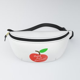 Rosh Hashanah inside an red apple or Jewish Near year greetings Fanny Pack