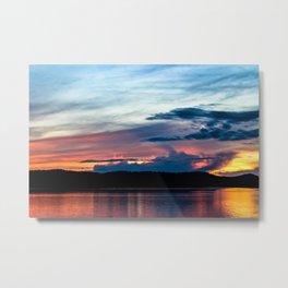 La Conner Sunset Metal Print
