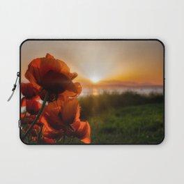 Poppies watching the sun set Laptop Sleeve
