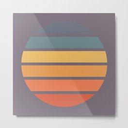 Classic Retro Striped Circle Design - Chizuru Metal Print