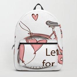 Cartoon Bike Backpack