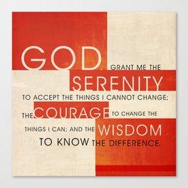 Serenity Prayer Canvas Print