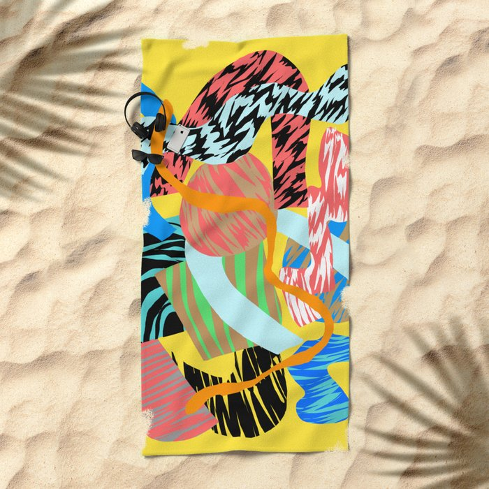 mellow yellow Beach Towel