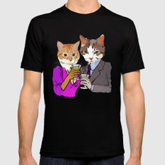 Kitty Cocktails Black MEDIUM Mens Fitted Tee