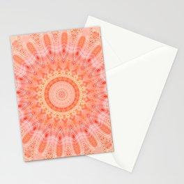 Mandala soft orange 2 Stationery Cards