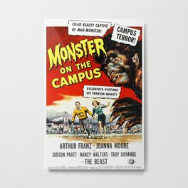 The Monster of the Campus, vintage horror movie poster Metal Print