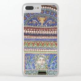 Mosaic Fountain Clear iPhone Case