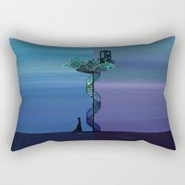 Tardis in the Twin world Rectangular Pillow