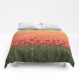 Tulips field 11 Comforters
