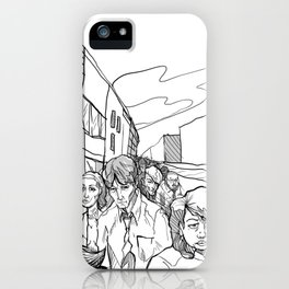 People in Middling City iPhone Case