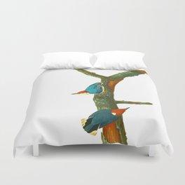 Turquoise Bird Duvet Cover