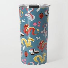 Japanese Dragons Travel Mug