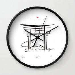 ITSUKUSHIMA Wall Clock