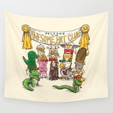 Awesome Hat Club Wall Tapestry