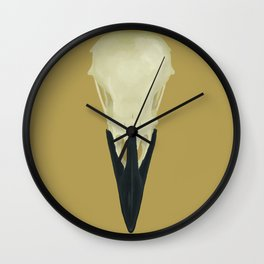 Raven Skull (Corvus corax) Wall Clock