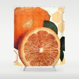 Tropical Print - Orange, Grapefruit, Tangerine - Modern Wall Art Print - Tropical Poster Shower Curtain