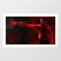 The Walking Dead Rick Grimes oil painting effect Art Print