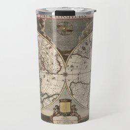 Planet / Old Map Travel Mug