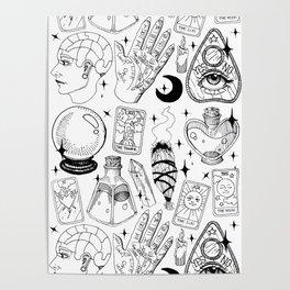 Fortune Teller Starter Pack Black and White Poster