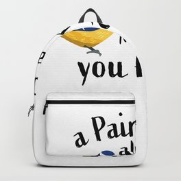 Funny Bird Gift Great and Blue Tit Backpack
