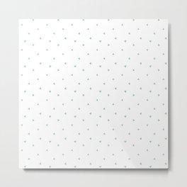 Soft Mint Triangle Pattern Metal Print