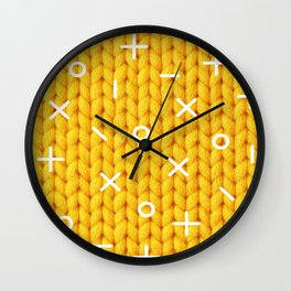 Yellow Sweater Wall Clock