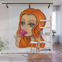 Red-haired girl Wall Mural