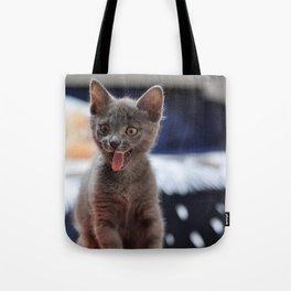 happy cat Tote Bag