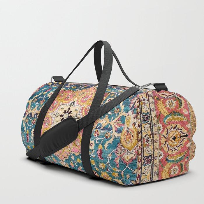 Amritsar Punjab North Indian Rug Print Duffle Bag