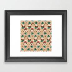 Day 17/25 Advent - Santa's Slaves I Framed Art Print