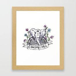 Conceal All Framed Art Print