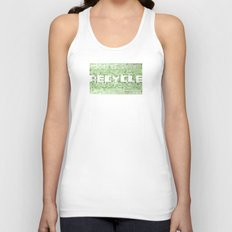Recycle watercolor mosaic Unisex Tank Top