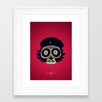 che Framed Art Prints featuring Che by mangulica illustrations