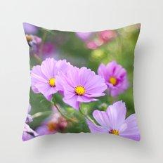 Pink Softness Throw Pillow