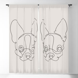 One Line Chihuahua Blackout Curtain
