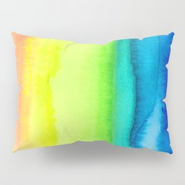 Rainbow Gradient Madness Watercolor by Imaginarium Creative Studios Pillow Sham