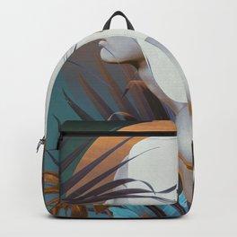 Golden Tropical Garden Backpack
