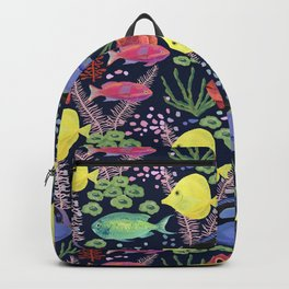 Reef Fish (navy background) Backpack