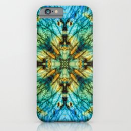 Labradorite with a geometric kaleidoscopic design iPhone Case