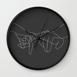 Grey Pinky Swear Wall Clock
