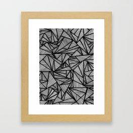 Angled in Black Framed Art Print