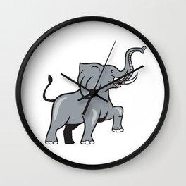 Elephant Marching Prancing Cartoon Wall Clock