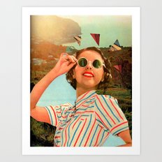 Glamour in the Sun Art Print