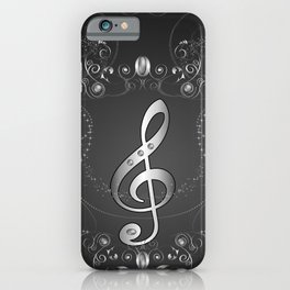 Clef with floral elements iPhone Case