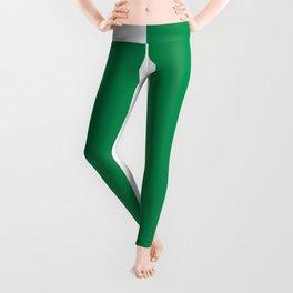 Green and White Vertical Stripe Pattern 2022 Trending Color Pantone Green Bee 17-6154 Leggings
