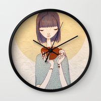 coffee Wall Clocks featuring coffee by Renia
